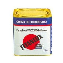 Esmalte Crema Poliu Negro 250ml Titanlux Antioxido 010456714