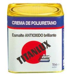 Esmalte Crema Poliu Blanc 750ml Titanlux Antioxido 010456634