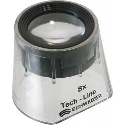 Lupa De Pie Tech-line Aumento 8x Fix DiÁm. Lente 30 Mm Schwe