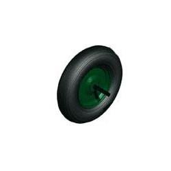Rueda Neumatica Carretilla Obra 350x80mm Disco Acero Verde