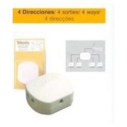 Repartidor Antena Coaxial 4 Direcciones Televes