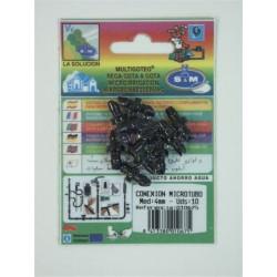 Conector Microtubo 4mm. 10 Piezas Ref.010675
