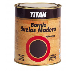 Barniz Poliuretan Satinad Titan Suelo Madera 500ml 044000112