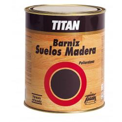 Barniz Poliuretano Satinado Titan Suelo Madera 1lt 044000101
