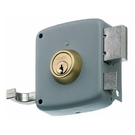 Cerradura Sobreponer Palanca/picaporte 2525pr-120 Dchas.gris