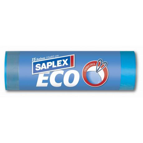 Bolsa Basura Cierra Facil Eco 55x60 15 Pz.