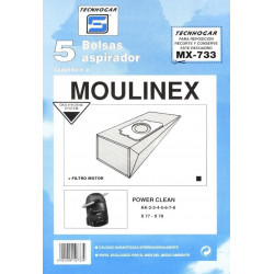 Bolsa Aspirador Moulinex Power 5p.733