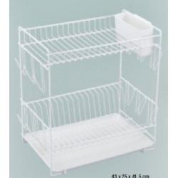 Escurreplato Grande Plastico Blanco 88980 Unidad