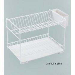 Escurreplato Pequeño Plastico Blanco 89000 Unidad