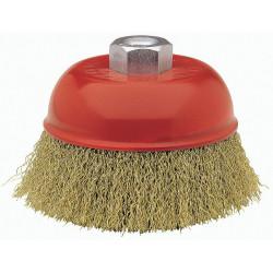 Cepillo Taza Acero Ltdo 125mm 0,3mm P/amoladora 50812-125 Be