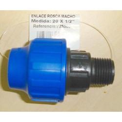 Enlace Rosca Macho 20x1/2 725500