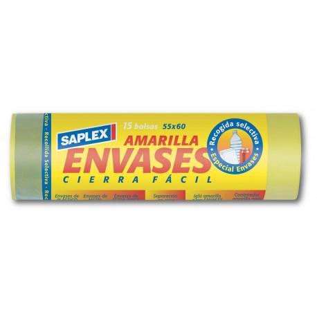 Bolsa Basura Envases Amarilla 55x60