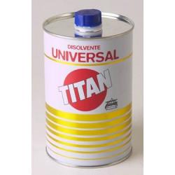 Disolvente Universal Para Pinturas 1 Litro Titan 08u000101