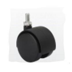 Rueda Gir 040mm 1-0240 Esp.ros.06x15mm 020kg Neg Dk Negro Al