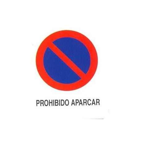 """Cartel Pvc 40x30""""prohibido Aparcar""""0248"""