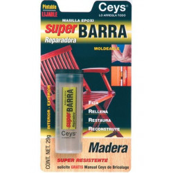 "Masilla Reparadora Epoxi Madera""superbarra"" 23gr 505025 Ceys"