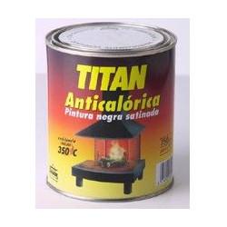 Pintura Anticalorica Satinada Negra 375ml Titan 01c030238