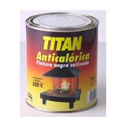 Pintura Anticalorica Satinada Negra 750ml Titan 01c030234