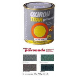Esmalte P/metal Antiox Negro 750ml Oxiron Pavonado 02b020434