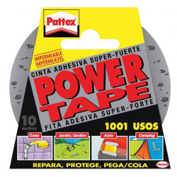 Cinta Adhesiva Power Tape Gris 50mmx10m 1669712