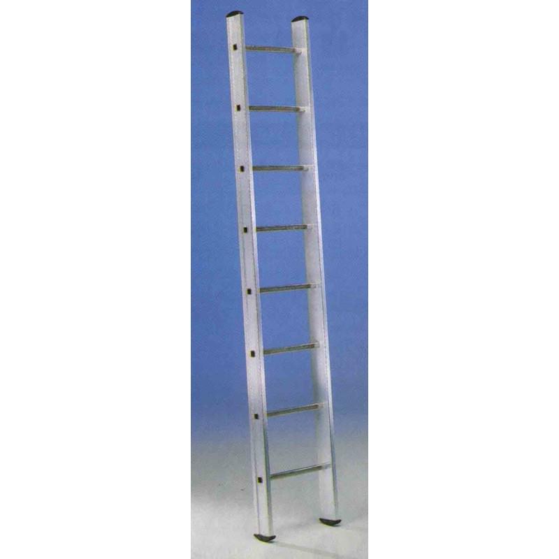 Escalera 1 tramo aluminio 8 pelda os 2 4mt e18 unidad for Escalera aluminio 2 peldanos