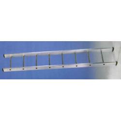 Escalera 1 Tramo Aluminio 14 Peldaños 4,10mt E114 Unidad