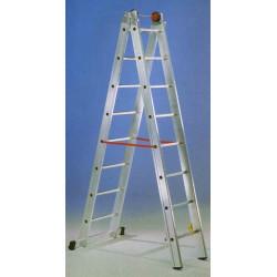 Escalera Mixta Aluminio 2x12 Peldaños Hasta 6,02 Mt E212