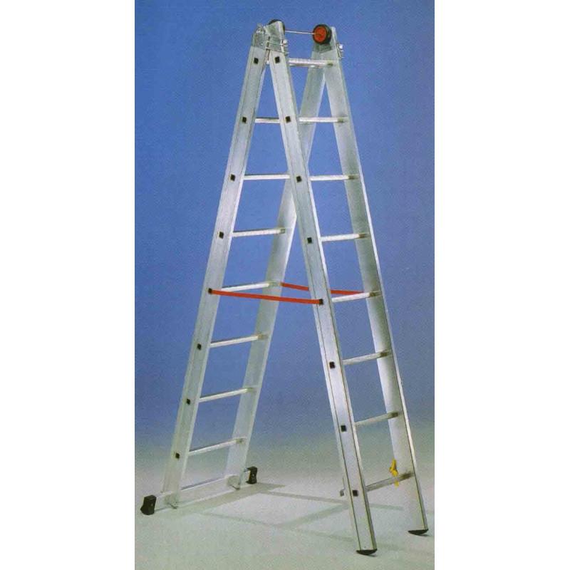 Escalera mixta aluminio 2x12 pelda os hasta 6 02 mt e212 for Escaleras 9 peldanos