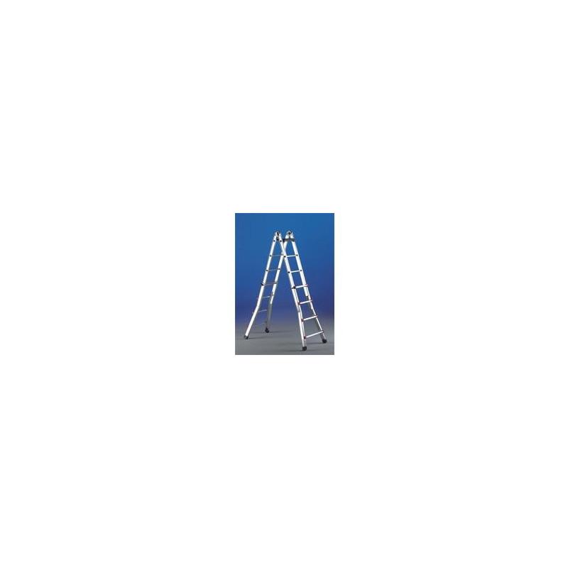 Escalera telescopica aluminio 8 8 pelda os esc8 unidad for Escaleras 8 peldanos