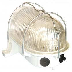 Aplique Ilumin Ov Ext E27 60w Pvc Bl Rej/met Fenopl.