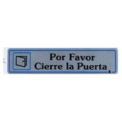 """Placa """"por Favor Cierre Puerta"""" Aluminio A15 Unidad"""