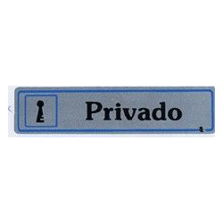 """Placa """"privado"""" Aluminio A19 Unidad"""
