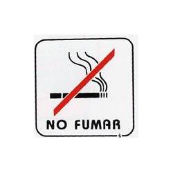 Placa Señal Adh 110x110mm No Fumar Pict. Poliest Bl Superl.