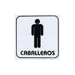 """Placa Pictograma """"caballeros"""" 11x11 P6 Unidad"""