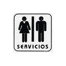 """Placa Pictograma """"servicios"""" 11x11 P4 Unidad"""