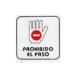 """Placa Pictograma """"prohibido Paso"""" 11x11 P2 Unidad"""