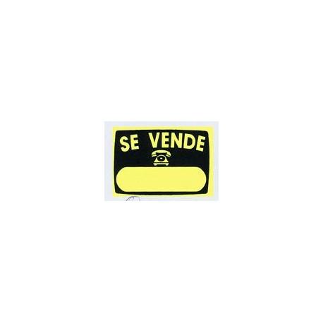 "Cartel ""se Vende"" Radiante V51 50x35 Unidad"