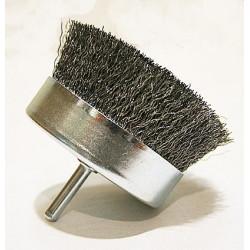 Cepillo Alambre Copa 85mm Para Taladro Uso Metal X36050 Pira
