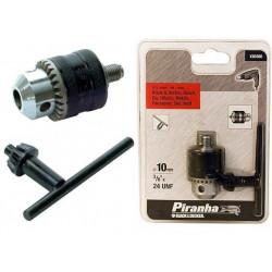 "Portabrocas 10mm+llave Rosca Macho 3/8""x24 X66300 Piranha"