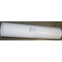 Tubo Aluminio Blanco 100mm.50cm