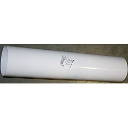 Tubo Aluminio Blanco 125mm.50cm