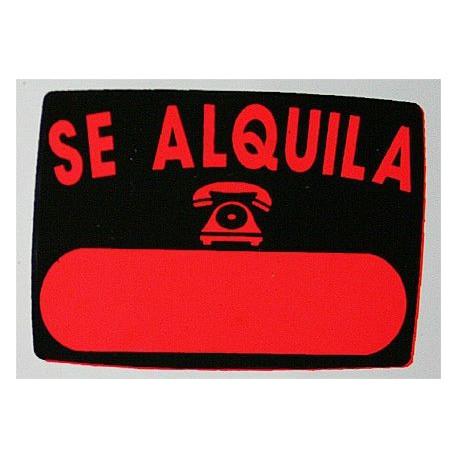 "Cartel""se Alquila""radiante 50x70 V9 Unidad"