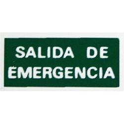 Placa Fotoluminiscente  Salida Emergencia Ef12 Unidad