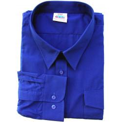 Camisa Trabajo T48/49 Tergal M/larga 2 Bols. Az Bigferr