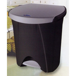 Cubo Bas. Recicl. 30+18lt C/pedal 2comp. Pl Ne Ecologico Tes