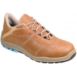 Zapato Seg.piel Punt. Alum Silver Cuero 38