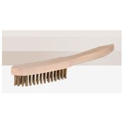 Cepillo Manual Acero Pua Plana C/mango 4 Hileras Ms 9400t Ja