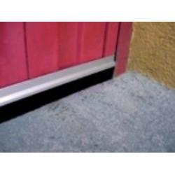 Burlete Garaje Aluminio Flecos 250cm.negro 127590
