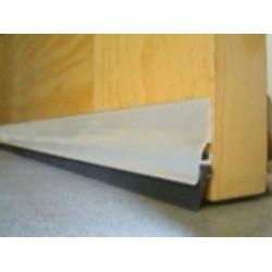 Burlete Adhesivo Aluminio Labio Caucho 105cm.plata 128350
