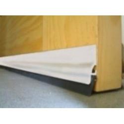 Burlete Adhesivo Aluminio Labio Caucho 105cm.blanco 128300